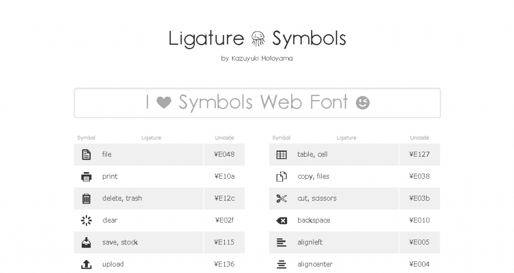 Ligature_Symbols